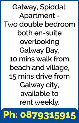 Galway, Spiddal: Apartment