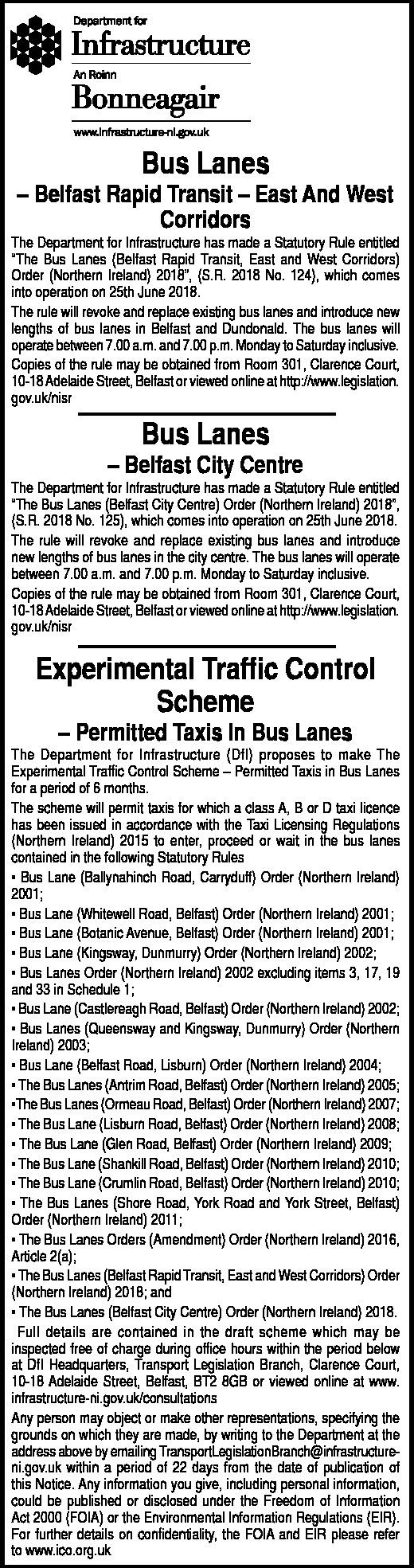Bus Lane - Public Notice
