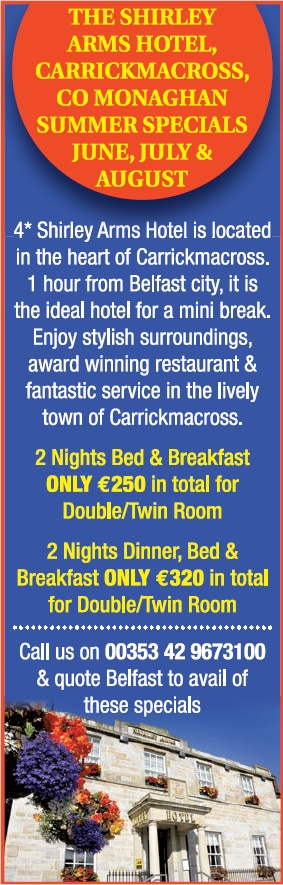 Shirley Arms Hotel Summer Specials