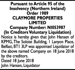 Claymore Properties Limited