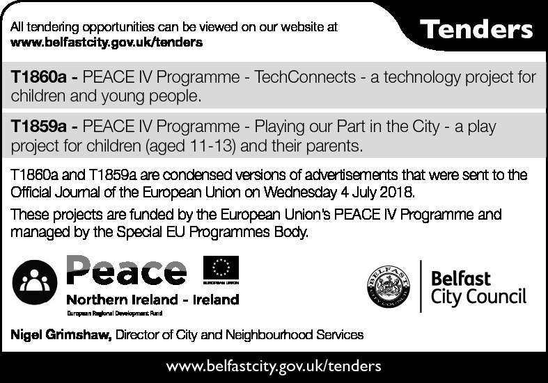 Belfast City Council - Tender  - Contracts & Tenders in Northern Ireland