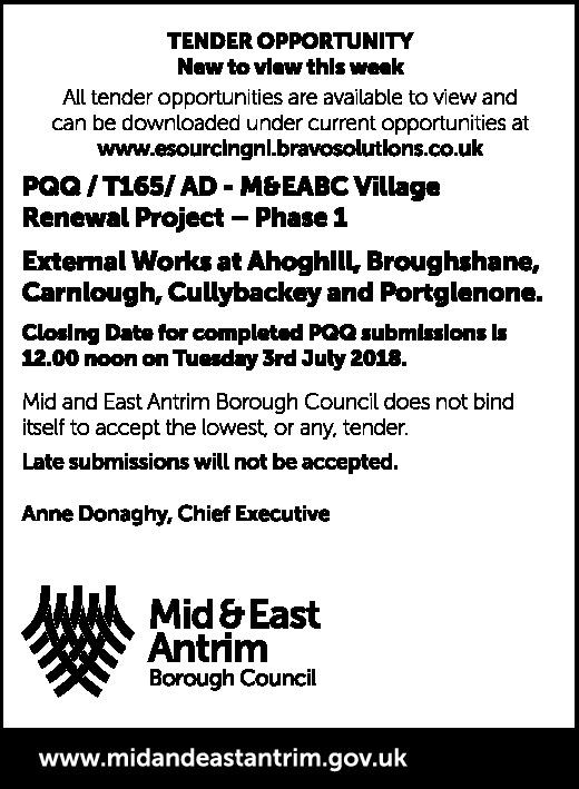 Public Notice - Village Renewal Project