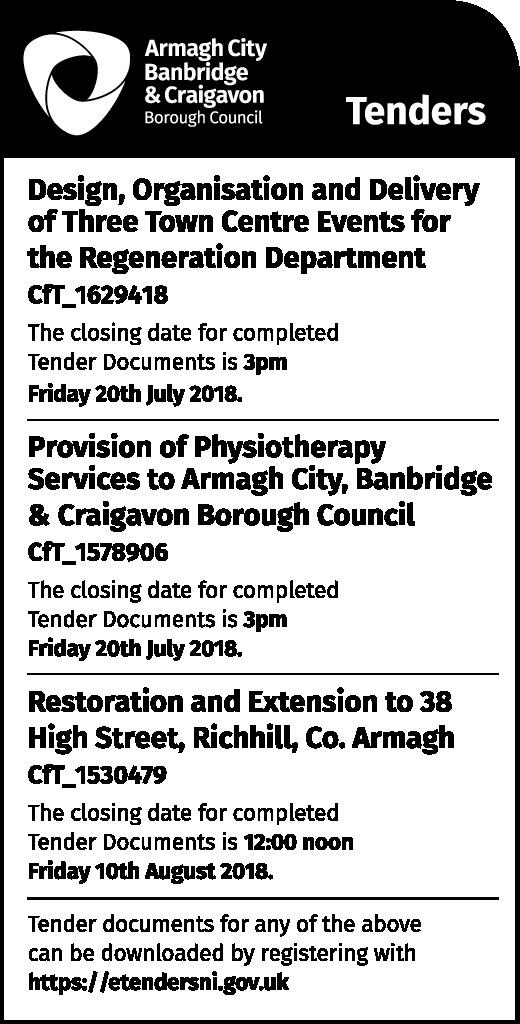 Armagh City Banbridge & Craigavon Borough Council Tenders