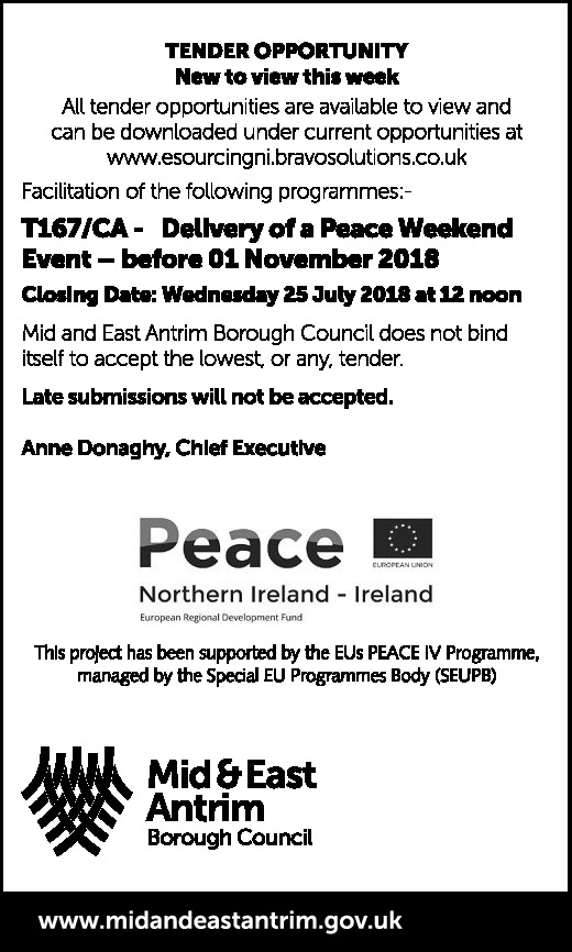 Delivery of a Peace Weekend Event