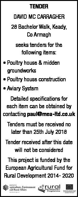 Tender Notice - Contracts & Tenders in Northern Ireland