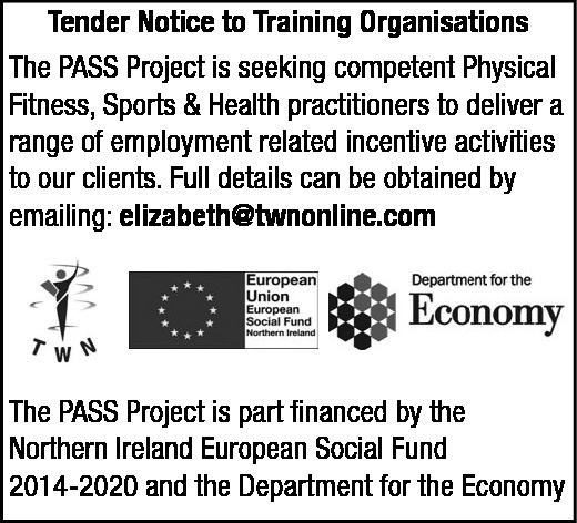 Tender Notice to Training Organisations  - Contracts & Tenders in Northern Ireland