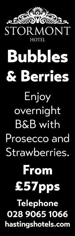 Stormont Hotel Bubbles and Berries