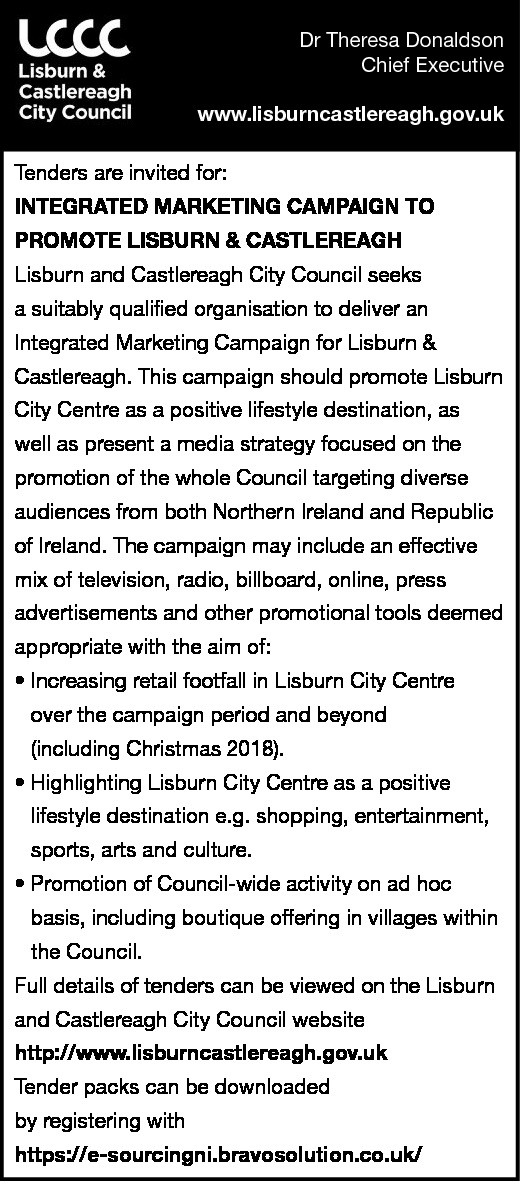 Integrated Marketing Campaign - Contracts & Tenders in Northern Ireland