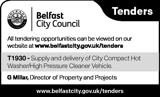 TENDER NOTICE Belfast City Council