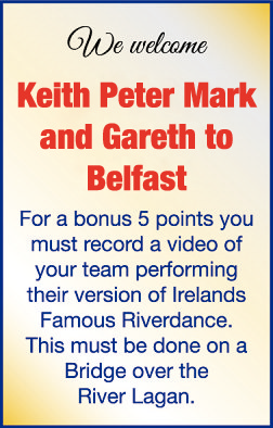 Keith Peter Mark and Gareth to Belfast
