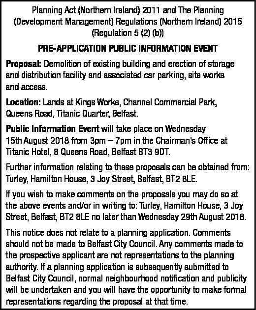 Pre-Application Public Information Event
