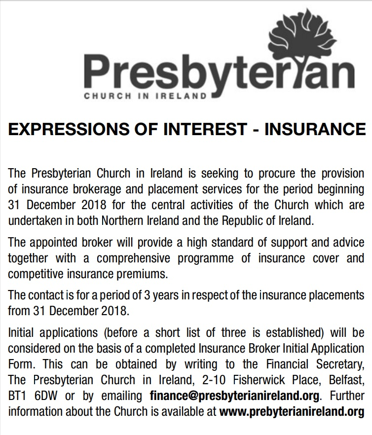 Expressions of Interest - Insurance