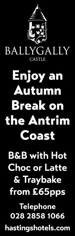 Enjoy an Autumn Break on the Antrim Coast