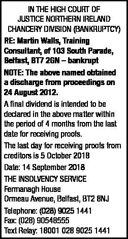 Martin Walls - Legal Notice