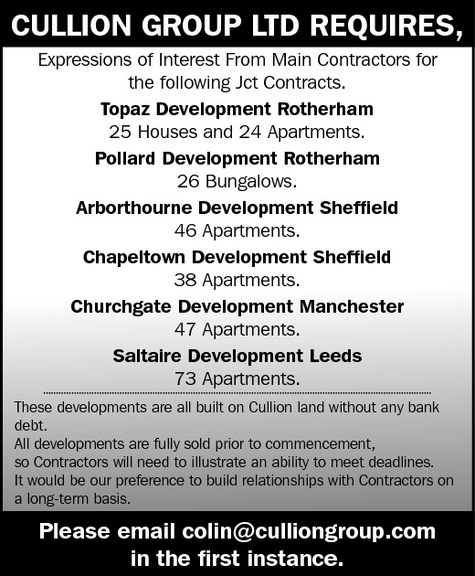 Expressions of Interest - Jct Contracts