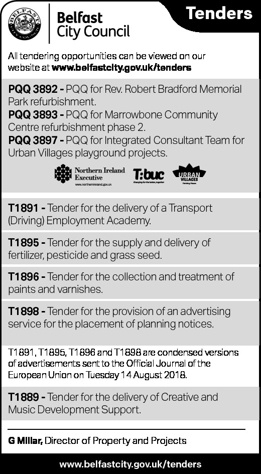 Belfast City Council - Tenders