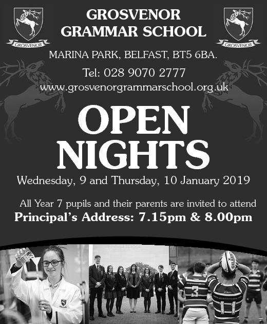 GROSVENOR GRAMMAR SCHOOL- OPEN NIGHT