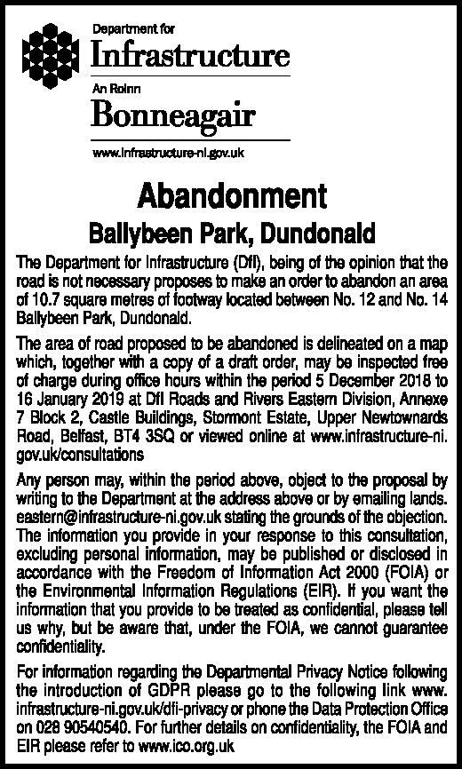Abandonment - Ballybeen Park, Dundonald