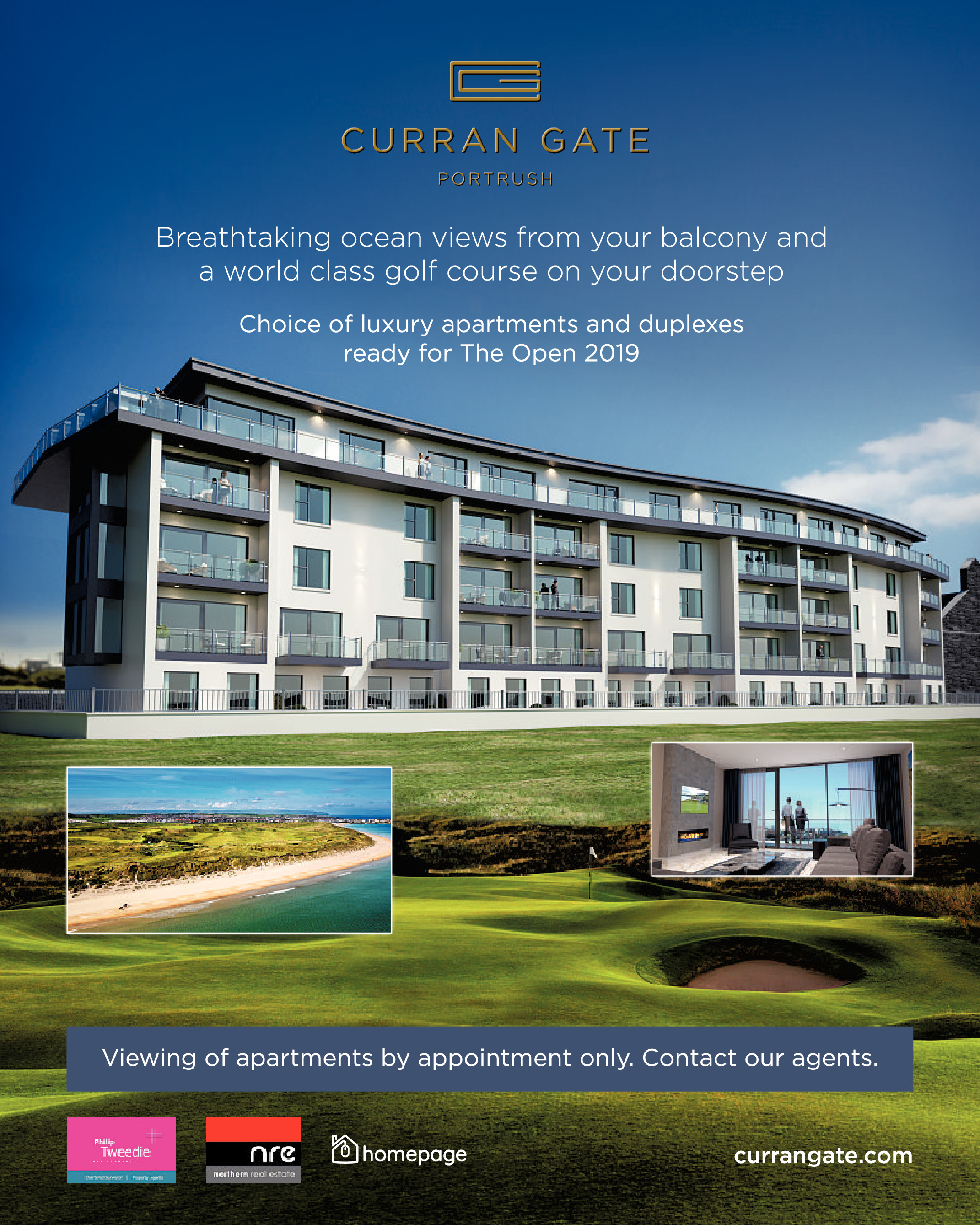 Curran Gate Portrush Apartments - Holiday Homes Available For Rent in Northern Ireland