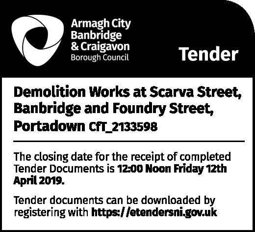 Demolition Works at Scarva Street, Banbridge and Foundry Street, Portadown