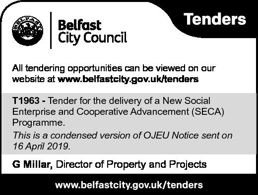 Belfast City Council - TENDER NOTICE