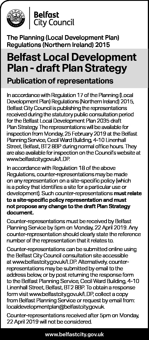 Local Development Plan PUBLIC NOTICE