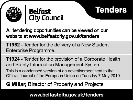 Belfast City Council - TENDER