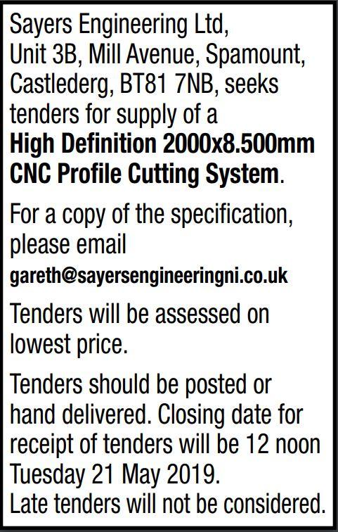 Sayers Engineering Ltd - TENDER