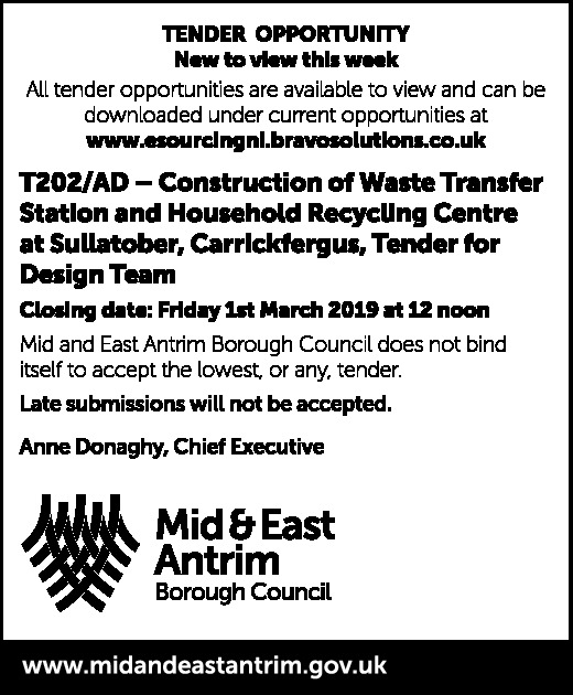 T202/AD — Construction of Waste Transfer Station and Household Recycling Centre at Sullatober