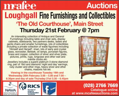 McAfee Auction - Fine Furnishings and Collectables