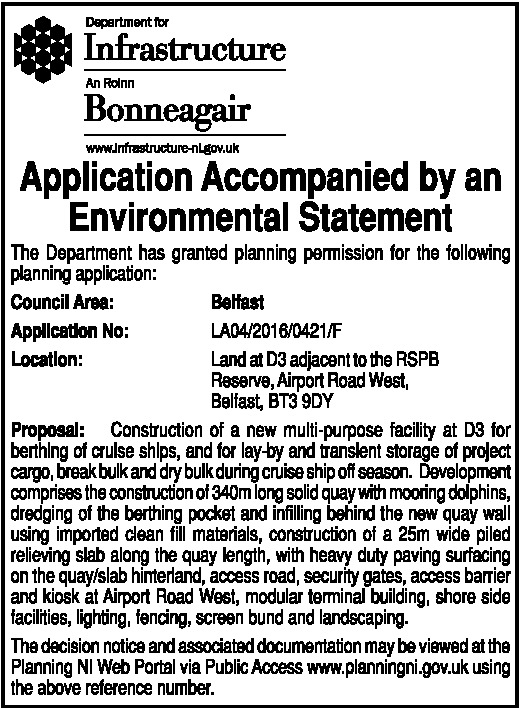 APPLICATION ACCOMPANIED BY AN ENVIRONMENTAL STATEMENT