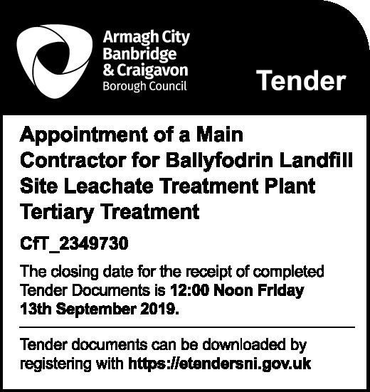 Armagh City Banbridge & Craigavon Borough Council - Tender - Contracts & Tenders in Northern Ireland