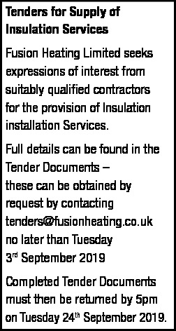 Tenders for Supply of Insulation Services