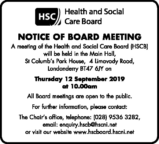 Notice of Board Meeting - Public Notices in Northern Ireland