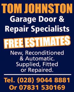 TOM JOHNSTON - Garage Door & Repair Specialists - General Services in Northern Ireland
