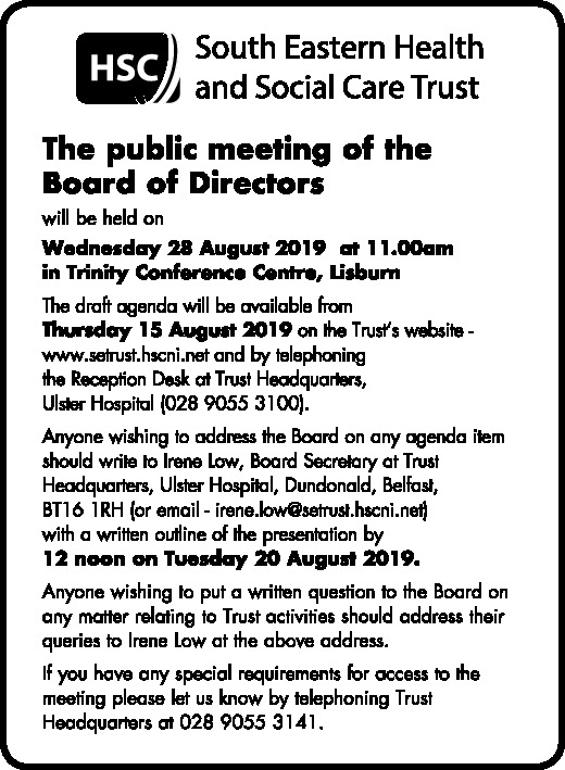 The public meeting of the Board of Directors