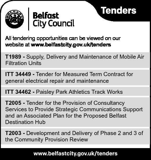Belfast City Council - TENDERS - Contracts & Tenders in