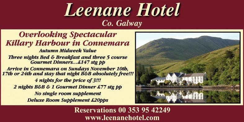 Leenane Hotel - November 2019 - Republic of Ireland Holidays