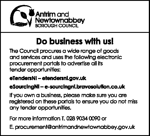 Antrim and Newtownabbey Borough Council - DO BUSINESS WITH US!