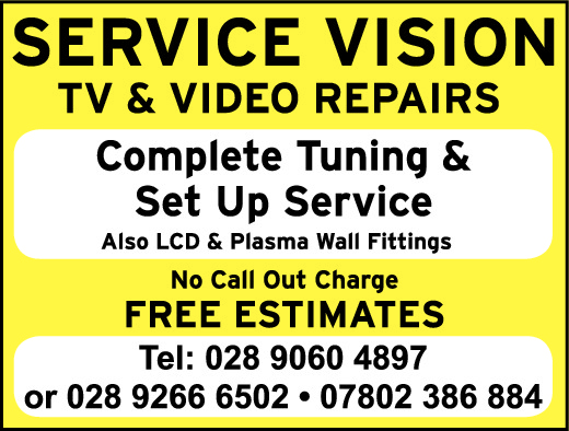 TV & Video Repairs - General Services in Northern Ireland