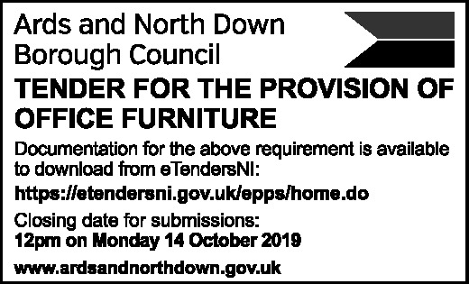 OFFICE FURNITURE TENDER - Contracts & Tenders in Northern Ireland