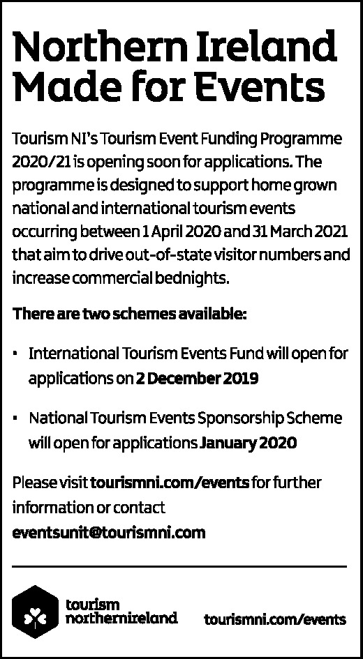 TOURISM EVENT FUNDING PROGRAMME 2020/21