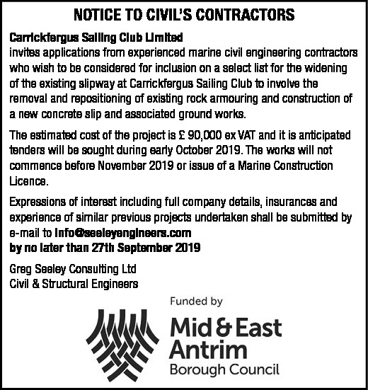 NOTICE TO CIVIL'S CONTRACTORS - Contracts & Tenders in Northern Ireland