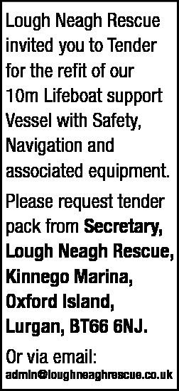 Lough Neagh Rescue - Tender Notice