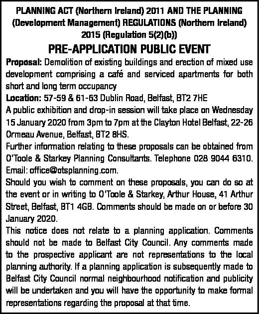 Pre-Application Public Event