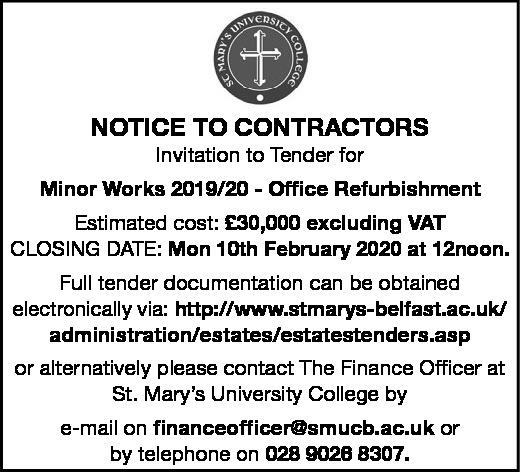 Minor Works 2019/20 - Office Refurbishment