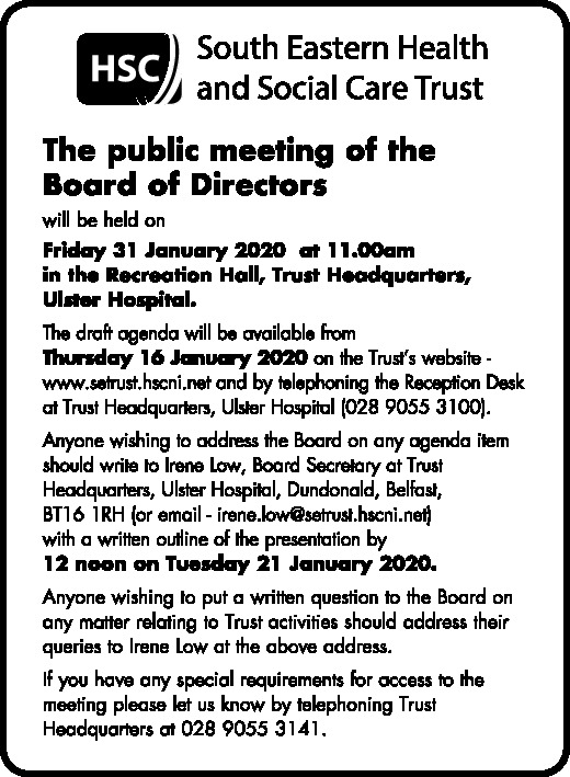 Public Meeting of the Board of Directors