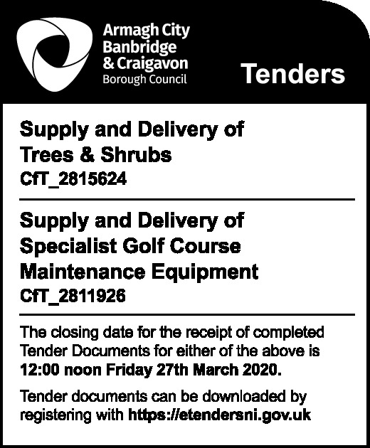 Tenders - Armagh City, Banbridge & Craigavon Borough Council