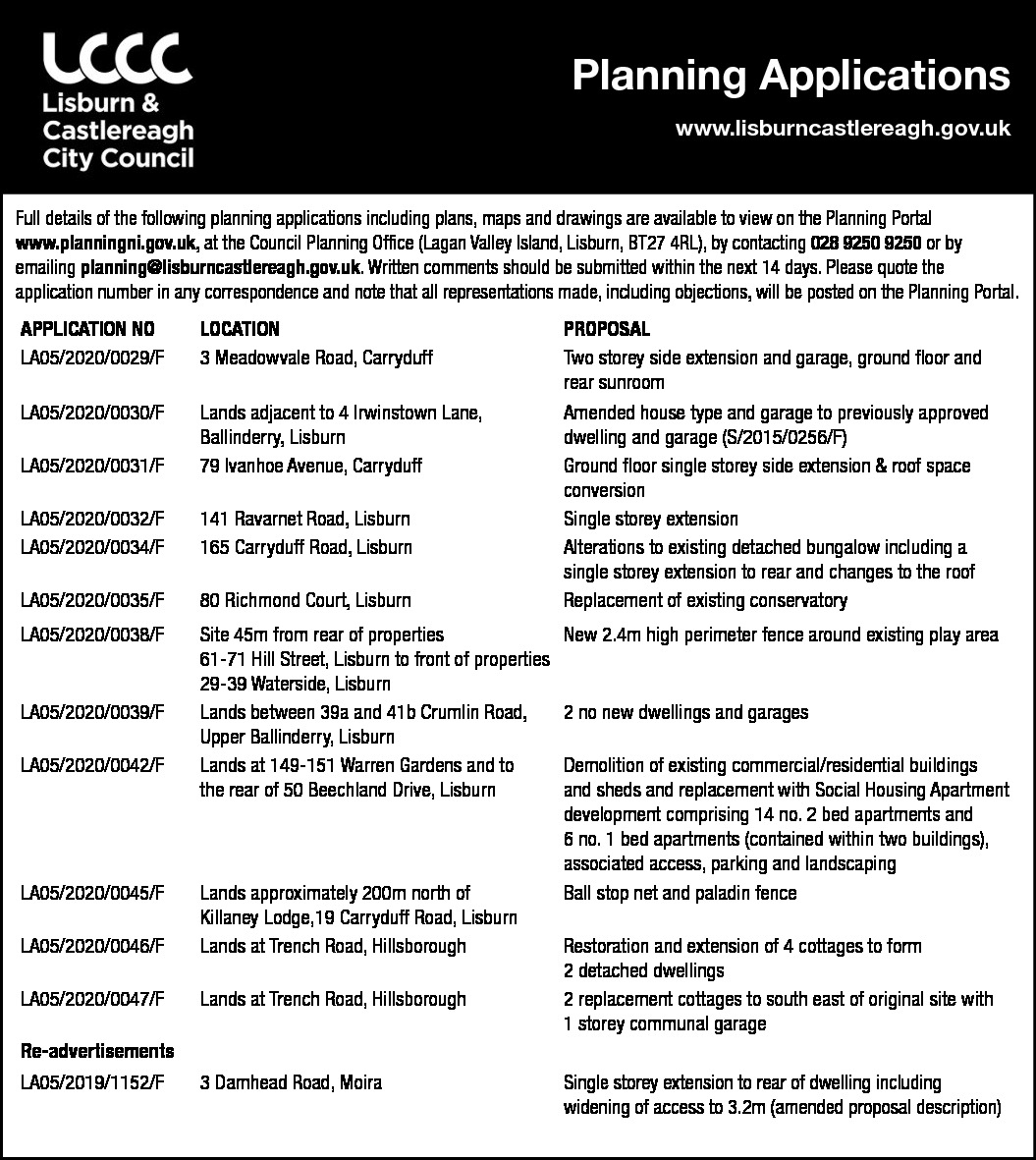 Planning Applications - Lisburn & Castlereagh City Council