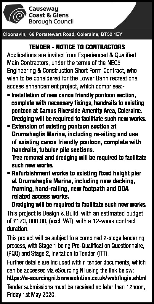 RIVERS PROJECT TENDER